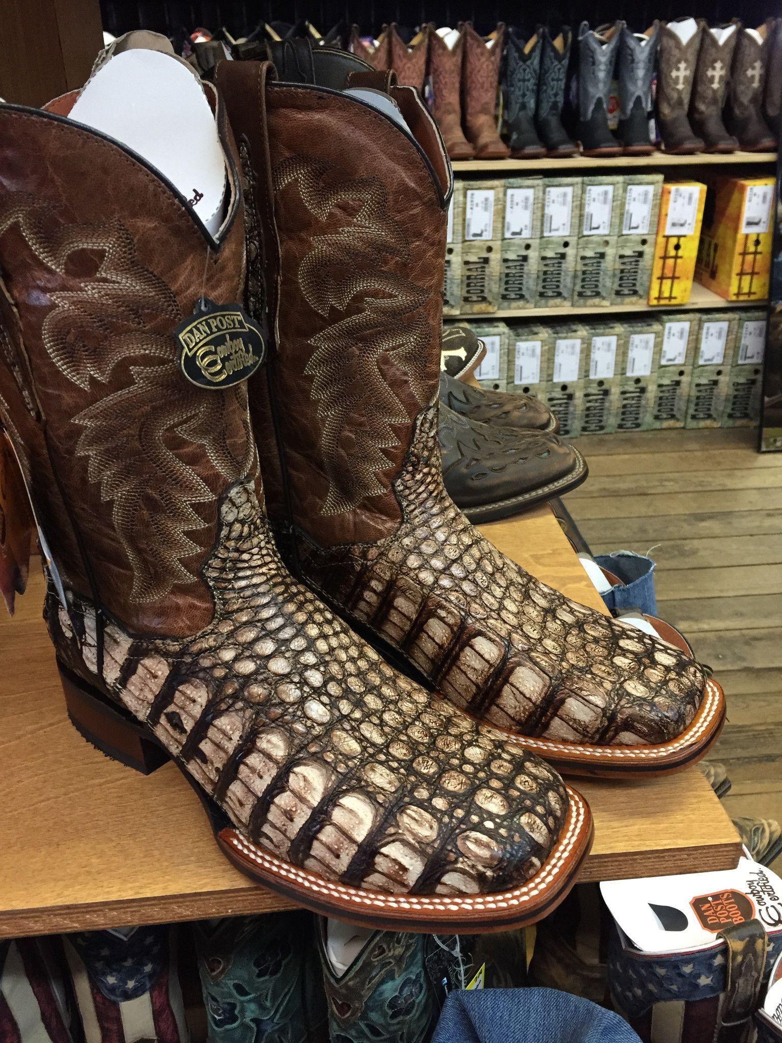 73f617e7e83 Dan Post Men's Cowboy Certified Pecan/Carmel Caiman Boots DP3862 ...