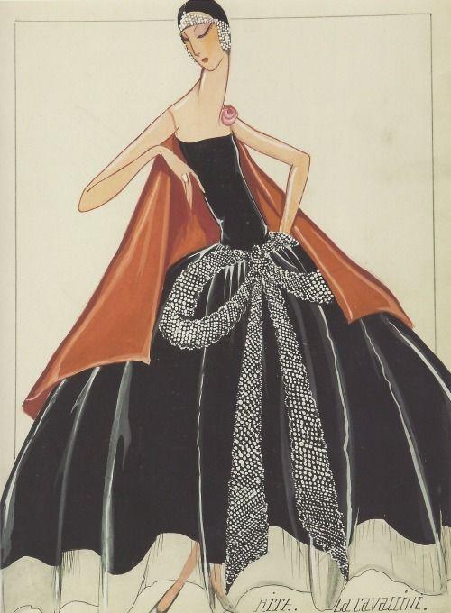 Maison Lanvin, modèle Rita. La Cavallini, 1925