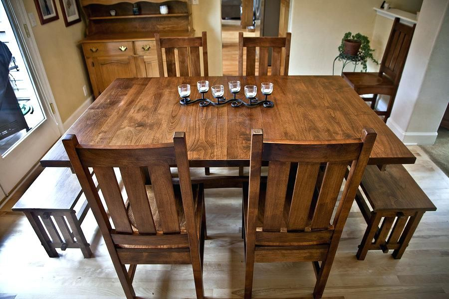 Dining Table Thomasville Mission Style Dining Room Table Plain ...