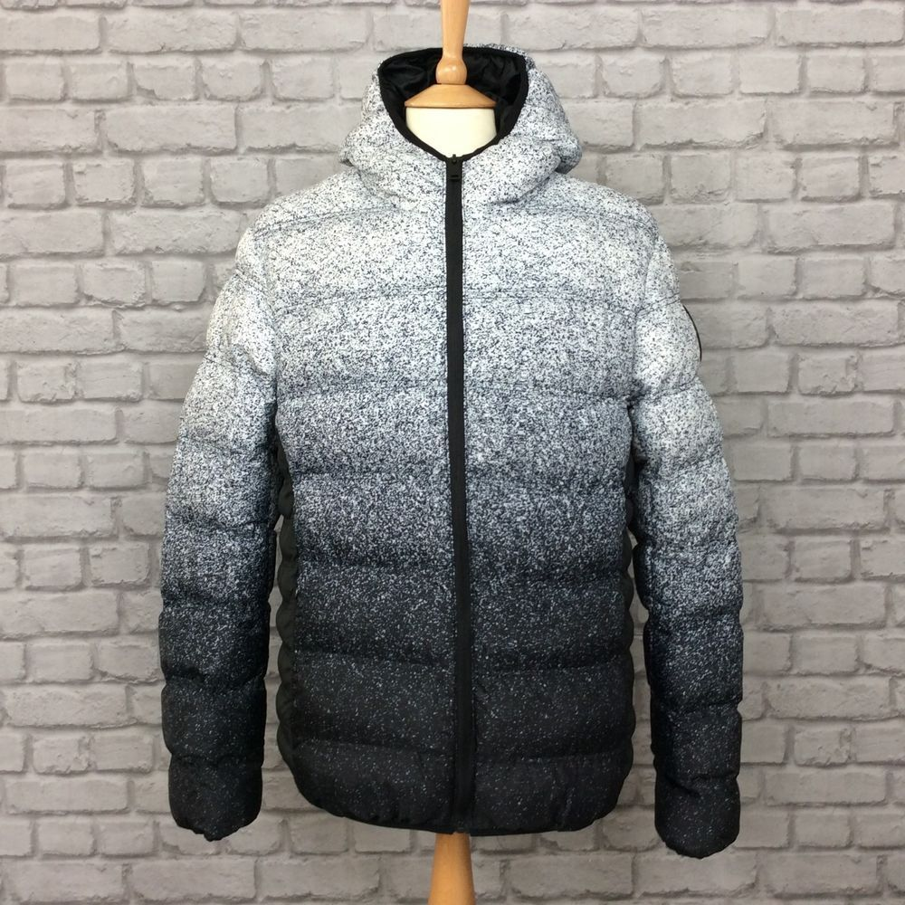 Good For Nothing Mens Uk L Speckle Fade Bubble Jacket Black Grey Rrp 70 00 Fashion Clothing Shoes Accessories Mensclothing Jackets Black And Grey Fashion [ 1000 x 1000 Pixel ]