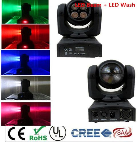 2x Led Beam Wash Double Sides 4 X10w 1 X12w Rgbw 15 21 Channel Dmx 512 Rotating Moving Head Lighting For Indoor Disco Part Dj Lighting Colorful Candles Lights