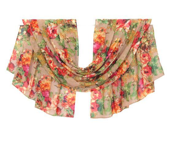 @Etsy rustic style Scarf, Flower Chiffon Scarf, Print Scarf, Silk Scarf, Spring Scarf, Summer Scarf, Pattern Scarf, Blanket Scarf, Women Gifts, Scarves, Trending Items, Silk Chif... #bigdata #etsy #fb #socialmedia #womaninbiz #scarves