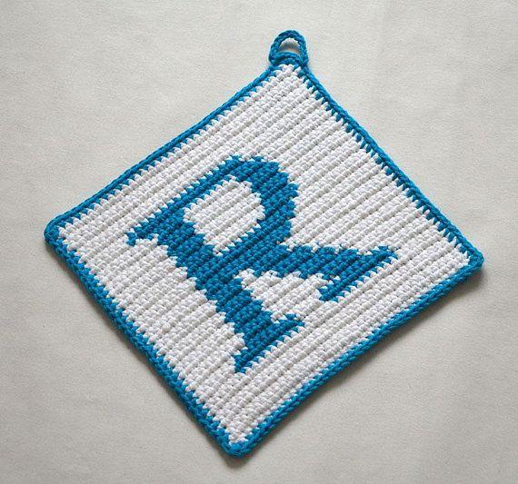 Letter R Potholder Crochet Pattern For Beginners Crochet