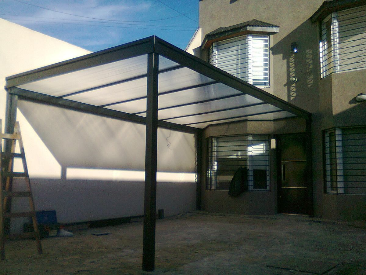 Techos policarbonato garages pergolas cocheras for Techos metalicos para cocheras