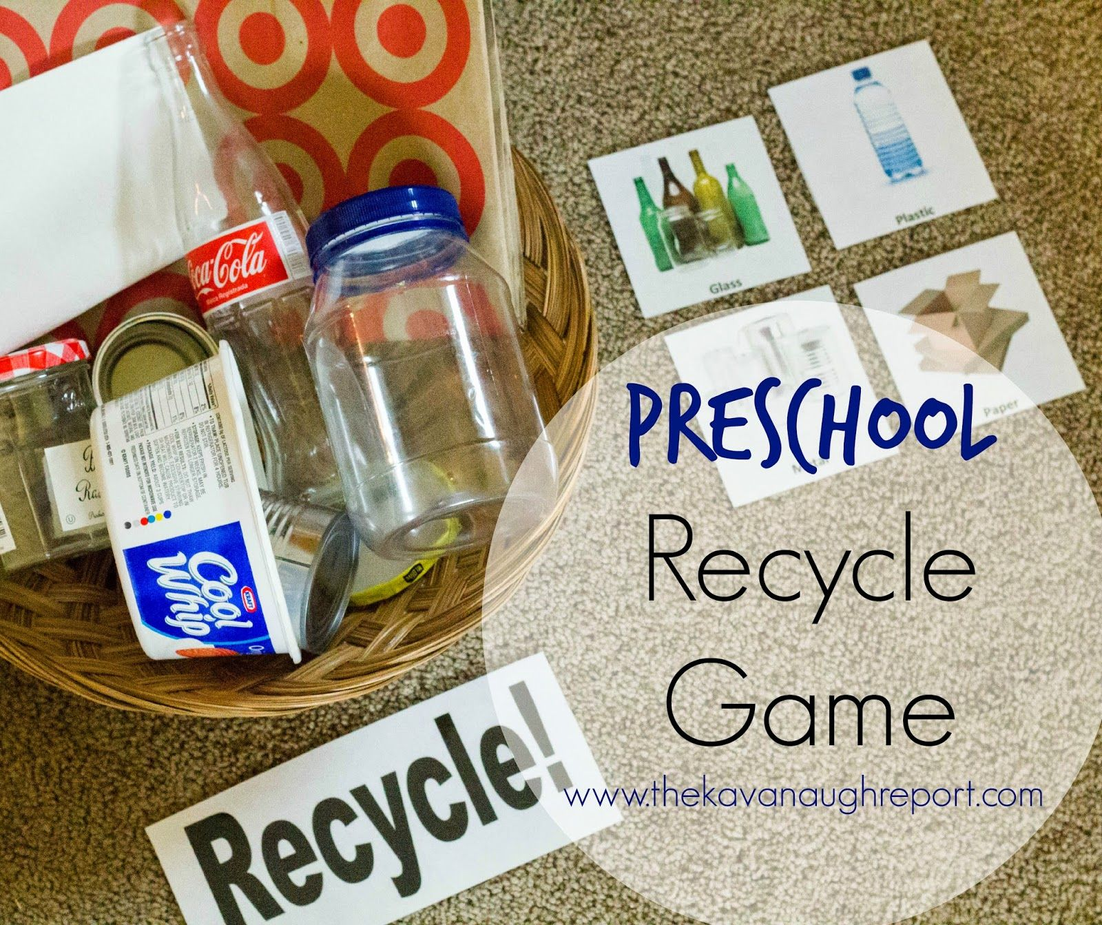 Montessori Inspired Preschool Recycle Game