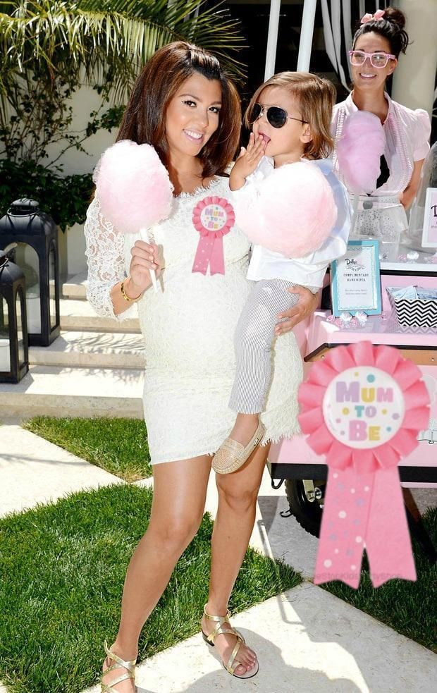 Celebrities Wearing Mum To Be Award Ribbon Badges. Celebrity Baby Shower  Party Inspiration.