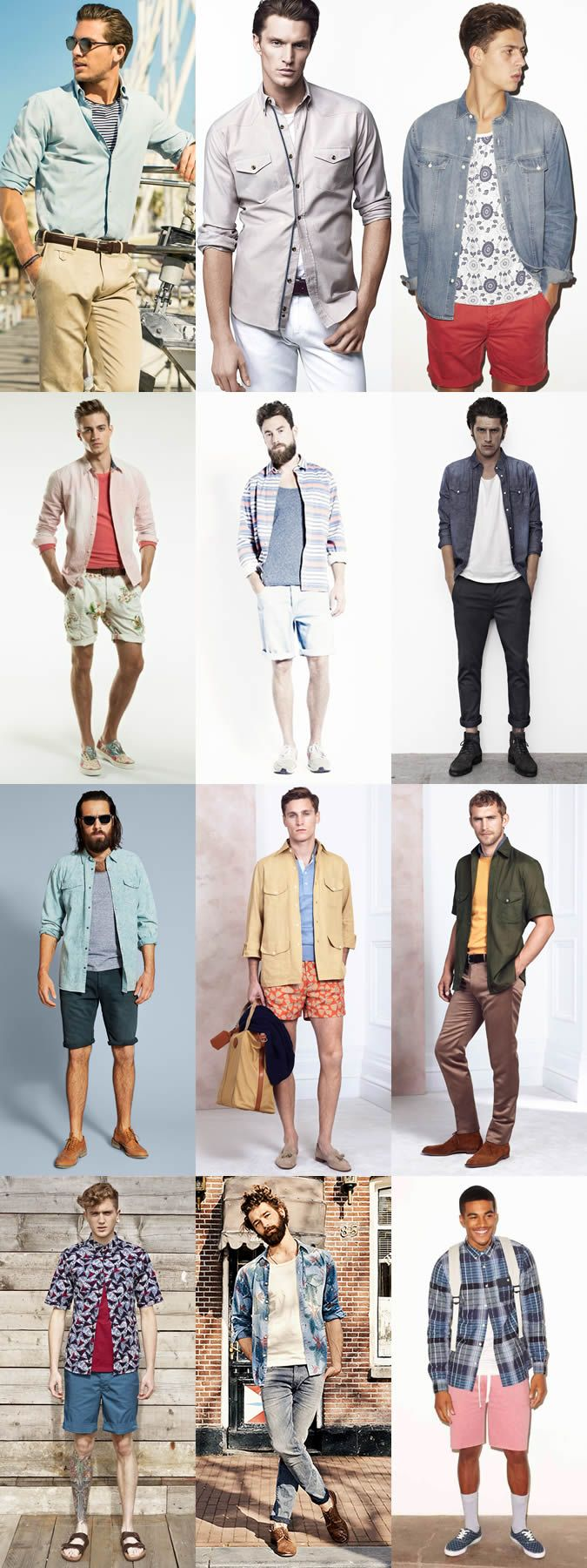 28cfe0cabec7 Men s Summer Shirt Layering - Outfit Inspiration Lookbook
