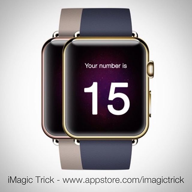 iMagic Trick is available for the iPhone iPad and Watch.  Perform the trick on your iPhone and reveal the magic number on your Apple Watch.  Check it out: www.appstore.com/imagictrick  #magic #app #iphone #trick #applewatch #apple #apps #apple_watch #magical #magictrick #imagictrick #watchos #newyork #newzealand #dubai #china