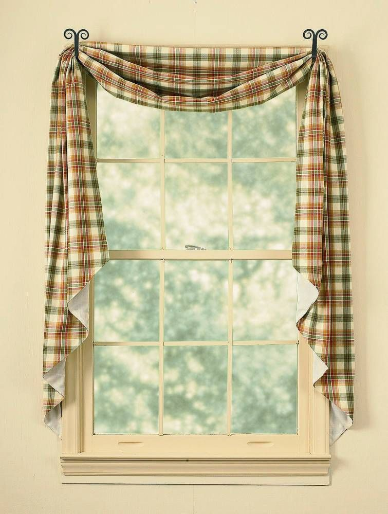Swag Curtains, Primitive Kitchen