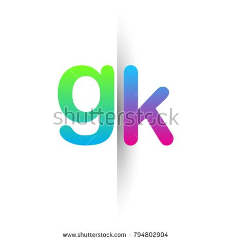 initial letter gk lowercase logo green pink and blue modern and rh pinterest com
