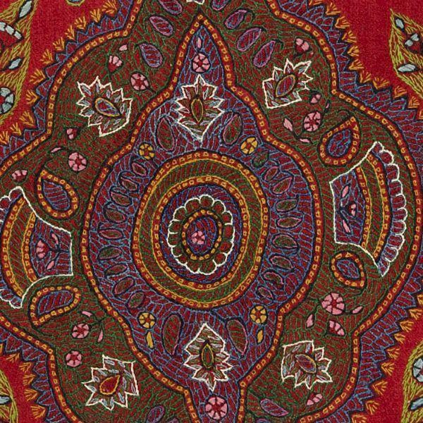 Iranian Embroidery Woolwork Pateh Detail Kerman