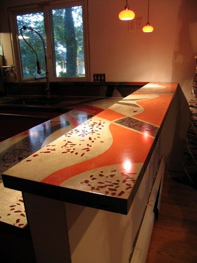 Countertop Inlays Concrete Countertops J Lifestyles Randolph, NJ I Like The  Width Of The High