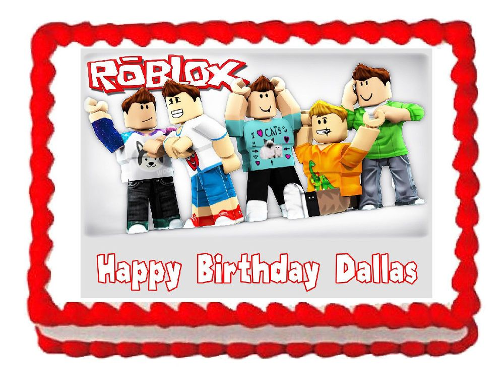 15 EDIBLE ICING CUPCAKE SIZE ROBLOX TOPPERS