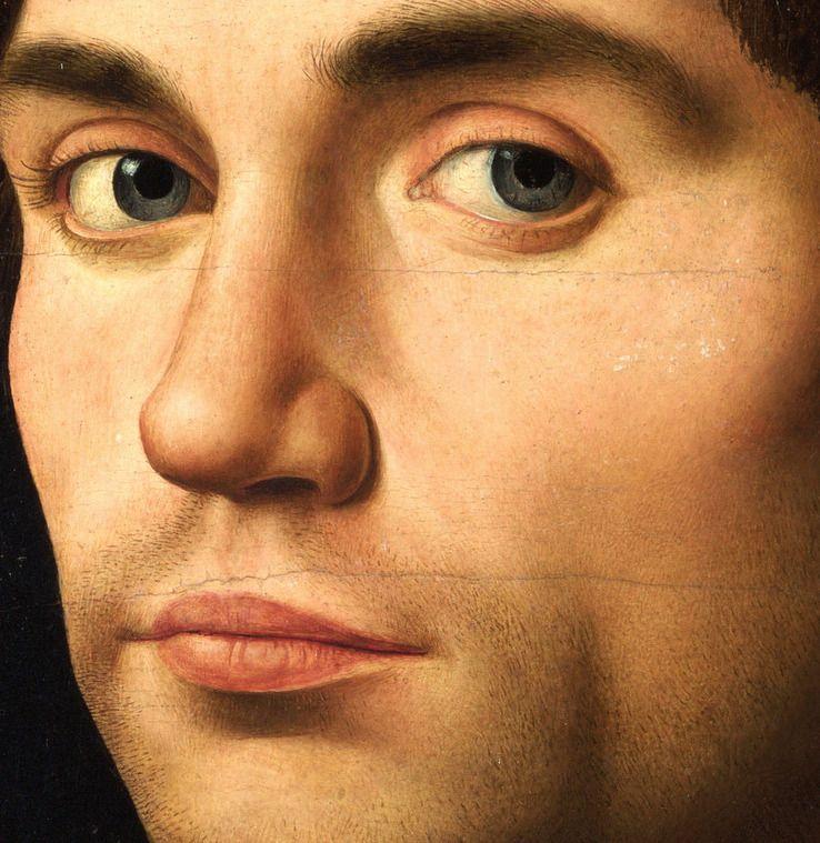 Antonello da Messini Portrait of a Man (detail)