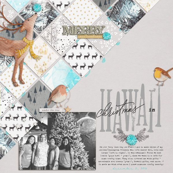Christmas In Hawaii by Cristina at the Lilypad #Christmasscrapping