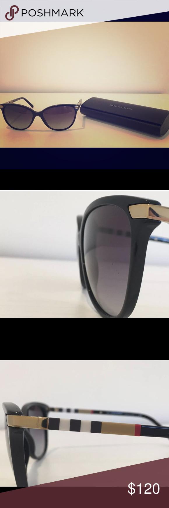 cb412e0d0e57 Authentic  Burberry women s sunglasses Brand NEW AUTHENTIC! Burberry B 4216  3001 8G Women Sunglasses Black Tartan Gradient A1 16 Never worn or used  still in ...
