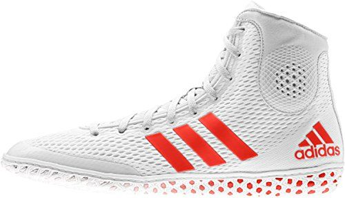Adidas Tech Fall 16 Rio Wrestling Shoes White-Red * Check out the image by visiting the link.