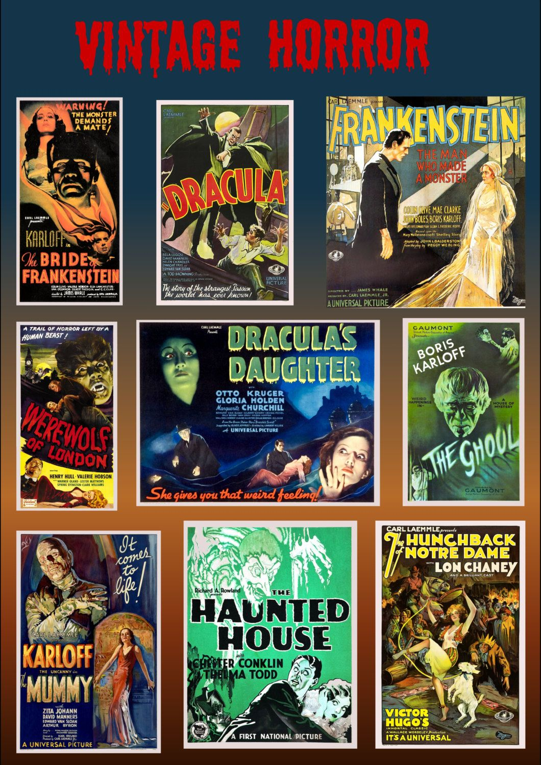 Vintage Posters For New Movies