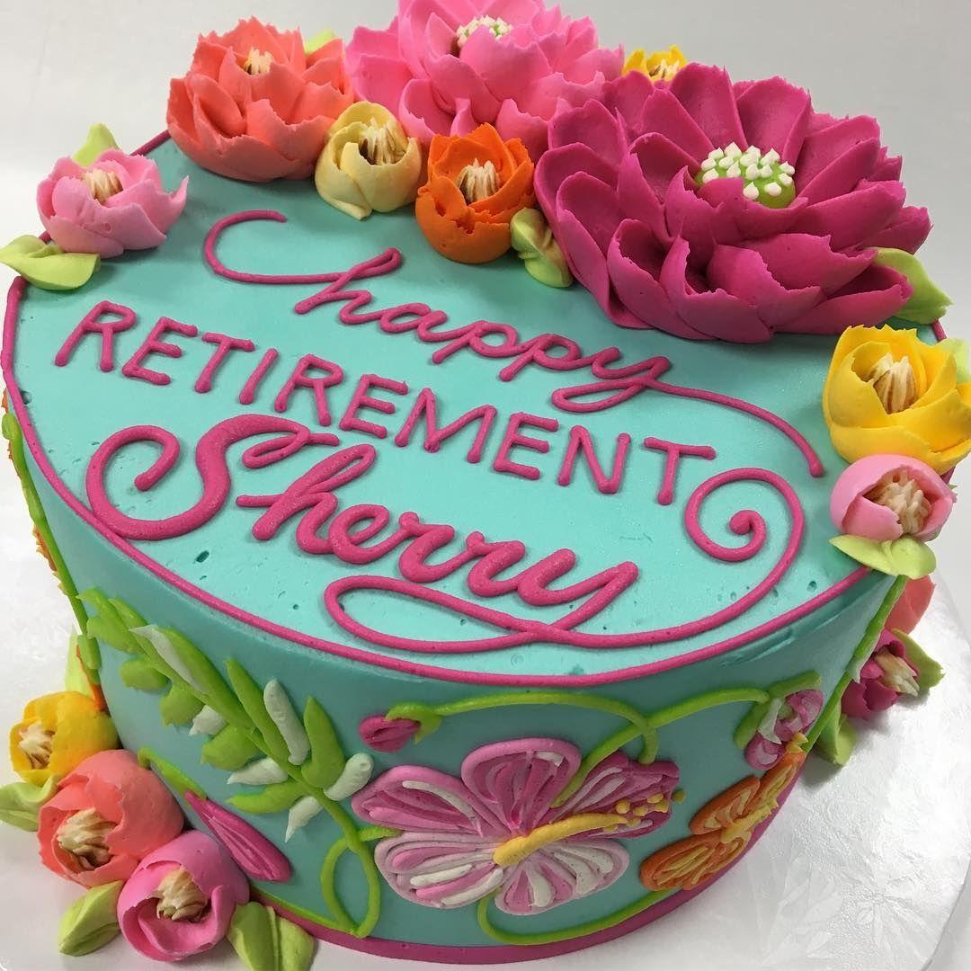 The White Flower Cake Shoppe Whiteflowercakeshoppe On Instagram Happy Retirement Sherry Retirement Party Cakes White Flower Cake Shoppe Retirement Cakes