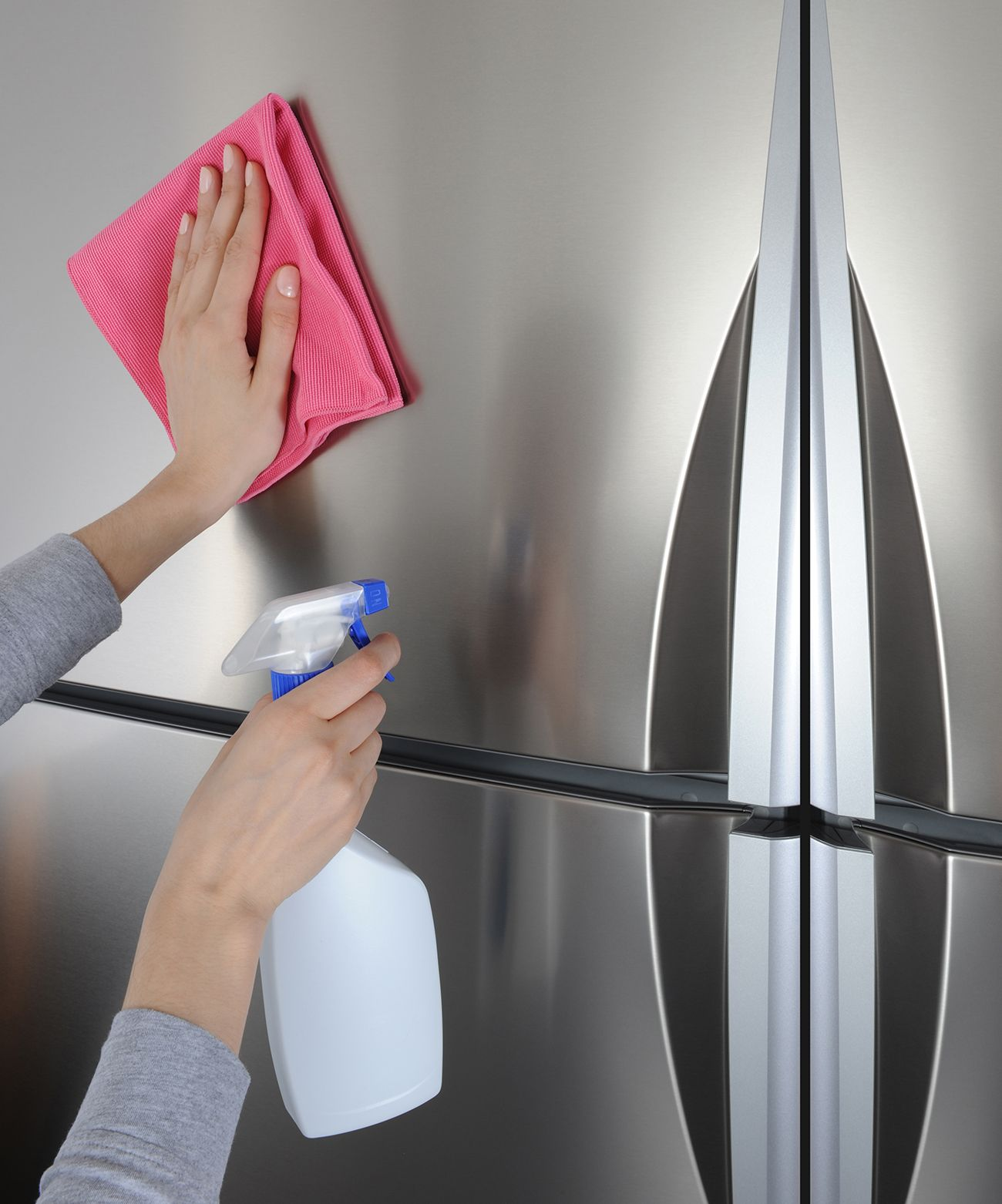 How To Clean Stainless Steel Even Those Dark Water Stains Stainless Steel Cleaning Cleaning Stainless Steel Appliances Stainless Steel Refrigerator