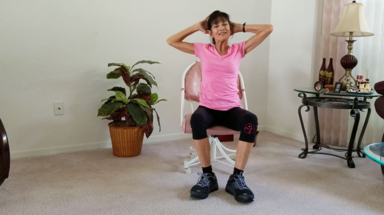 Seated Core Exercises For Seniors   Senior fitness. Exercise. Chair exercises for abs
