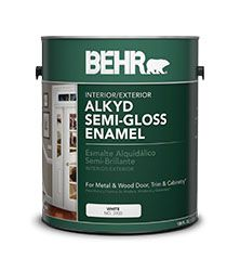 you can use this to paint tubs!/ BEHR® Alkyd Semi-Gloss Enamel ...
