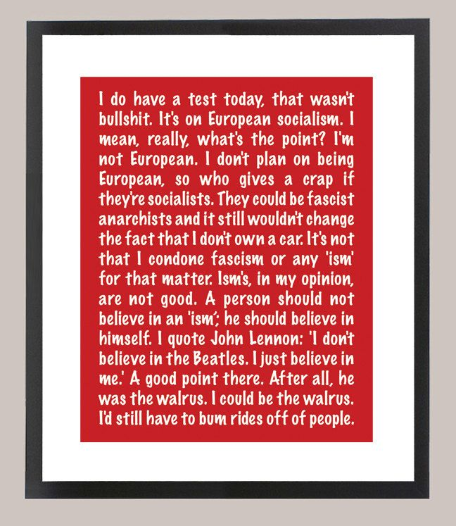 Ferris Bueller S Day Off Quote 11 X 14 Inspiration Print Etsy In 2020 Day Off Quotes Movie Quotes Best Movie Quotes