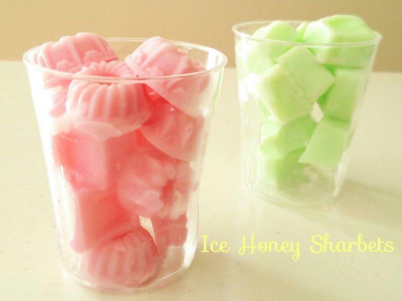 カキ氷シロップで作る シャービック風一口シャーベット|型にはまったお菓子なお茶の時間