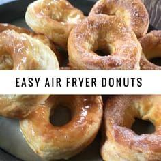 Easy Air Fryer Glazed Donuts | Recipe | Recipes, Donut ...