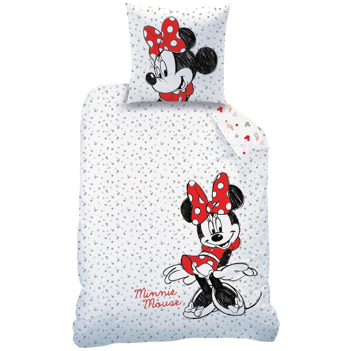 taie Parure de Lit Minnie Mouse Housse de couette 140x200 cm