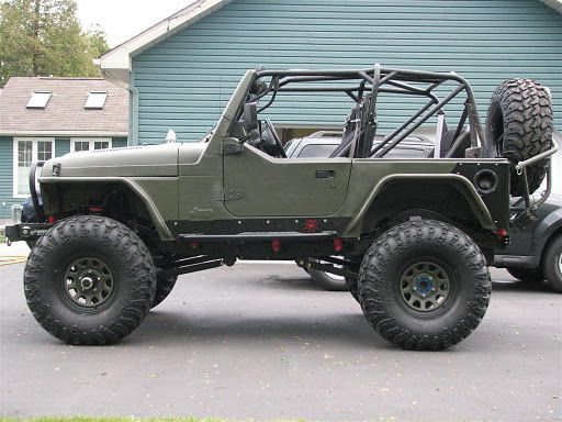 Another Jeep In Flat Green With Images Jeep Tj Jeep Yj Jeep