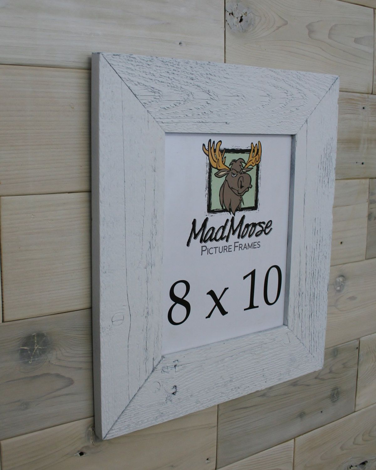 White Painted Barn Wood 8x10 Picture Frame [style: Thin x 3\