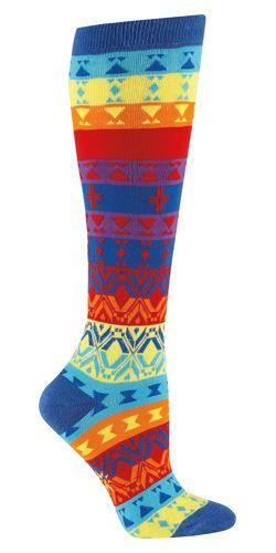 7c96e8222 Absolute Socks - Kaleidoscope Knee High Socks