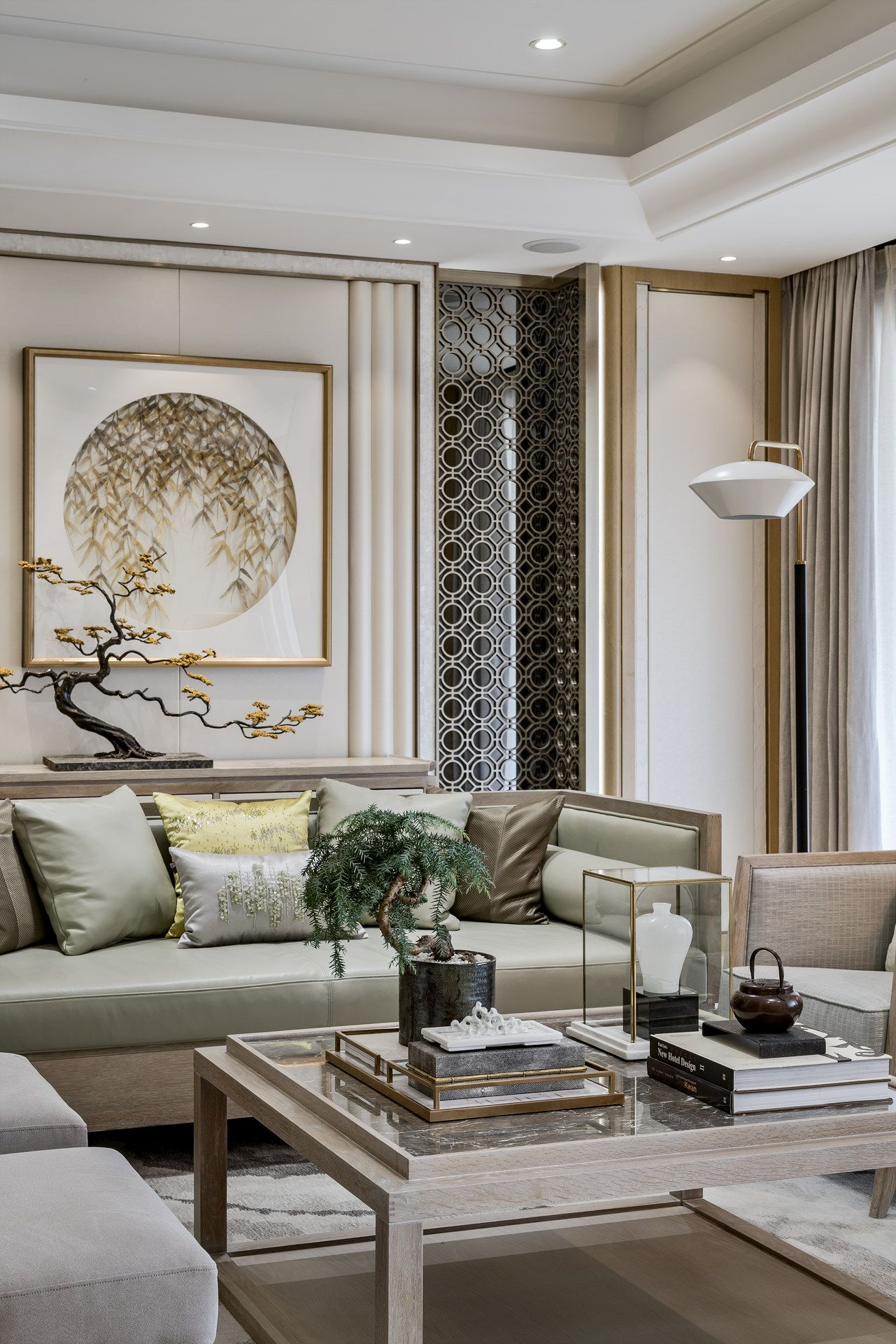 beautiful wall design neutral colors and gold accents on living room color inspiration id=94101