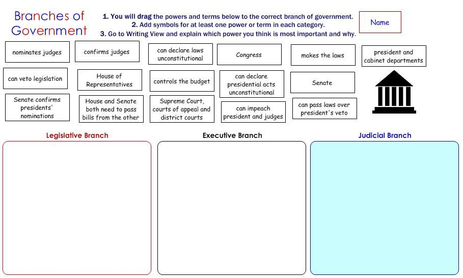 3 Branches Of Government Worksheet - Synhoff