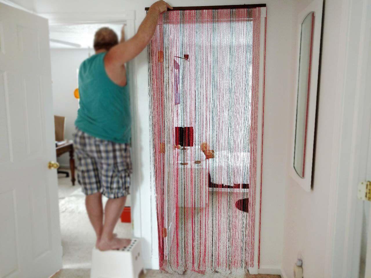 Japanese Rice Beads Curtain For Door Doorway Beaded Door Curtain A Japanese Hand Craft Red Brown Black Door Bead Beaded Door Curtains Beaded Curtains Zen Decor