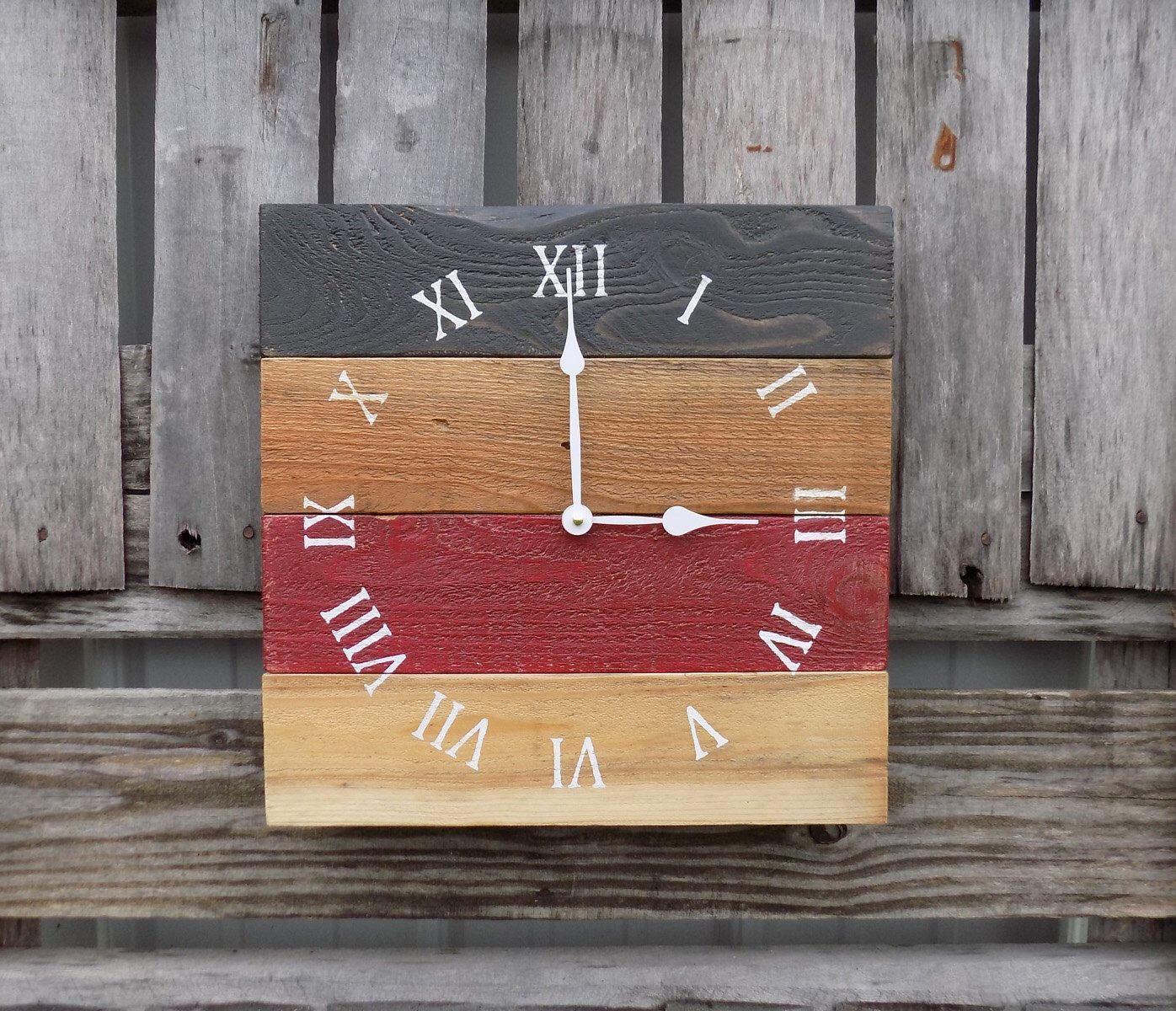 Rustic Pallet Clock Wood Clock Rustic Wall Clock Primitive Clock