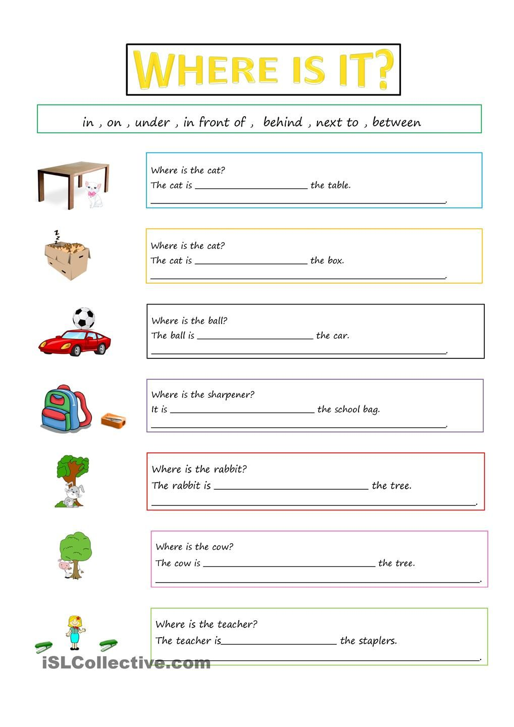 hight resolution of PREPOSITIONS   Preposition worksheets