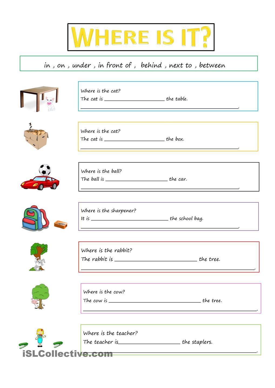 PREPOSITIONS Aulas de inglês para crianças, Aulas de
