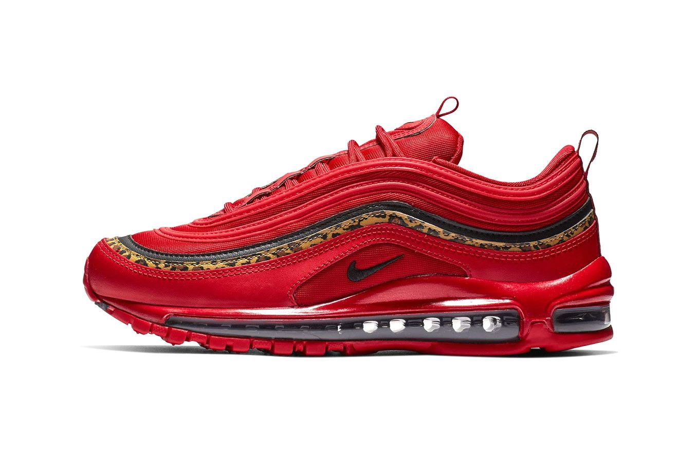 Nike Air Max 97 Red Leather & Leopard Print – Head Jordan