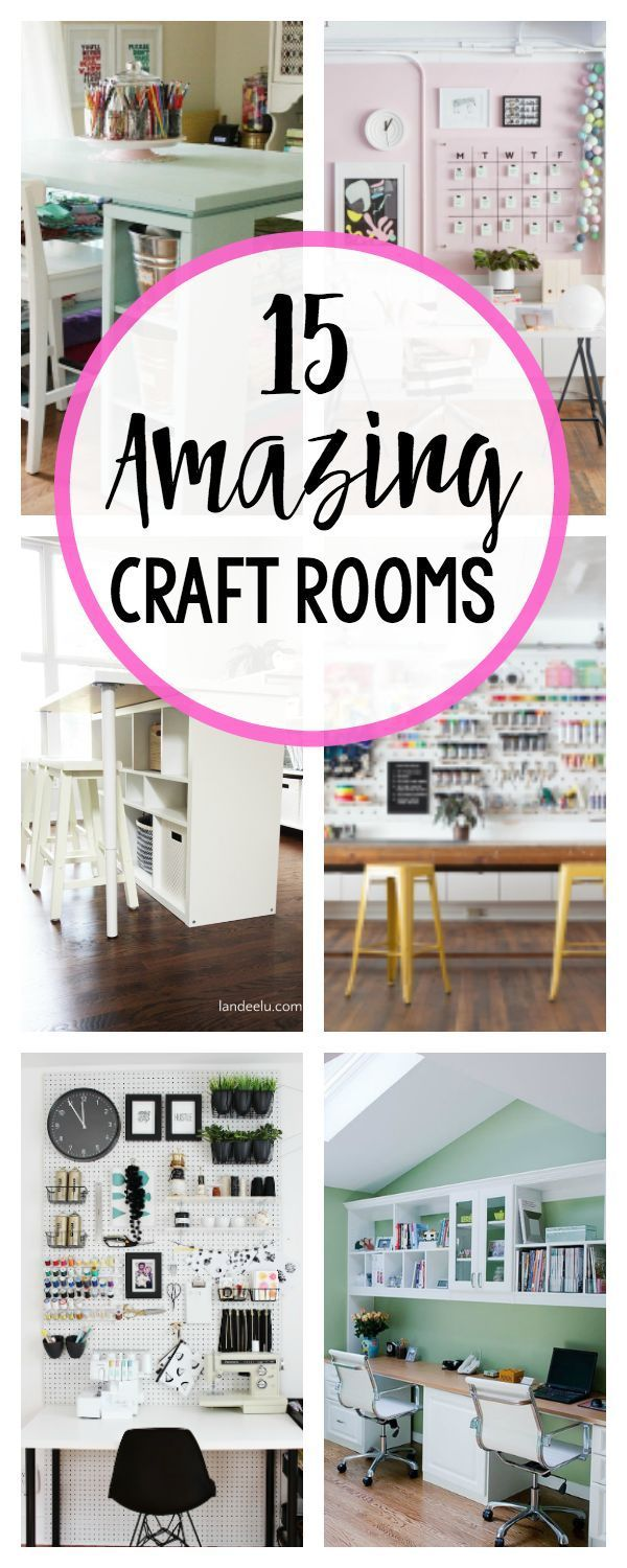 Craft Room Inspiration and Ideas | Crafts For Home Decor | Pinterest ...