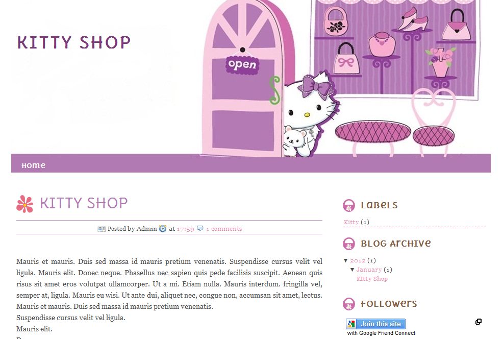 Purple kitty store blogger template free blogger template purple kitty store blogger template free blogger template blogger widgetsvector icon pronofoot35fo Images