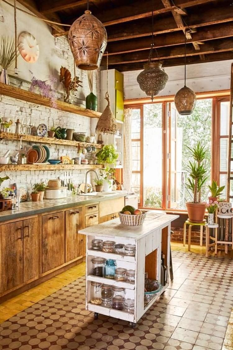 Fascinating Boho Kitchen Decor Ideas  Cuisines deco, Cuisine