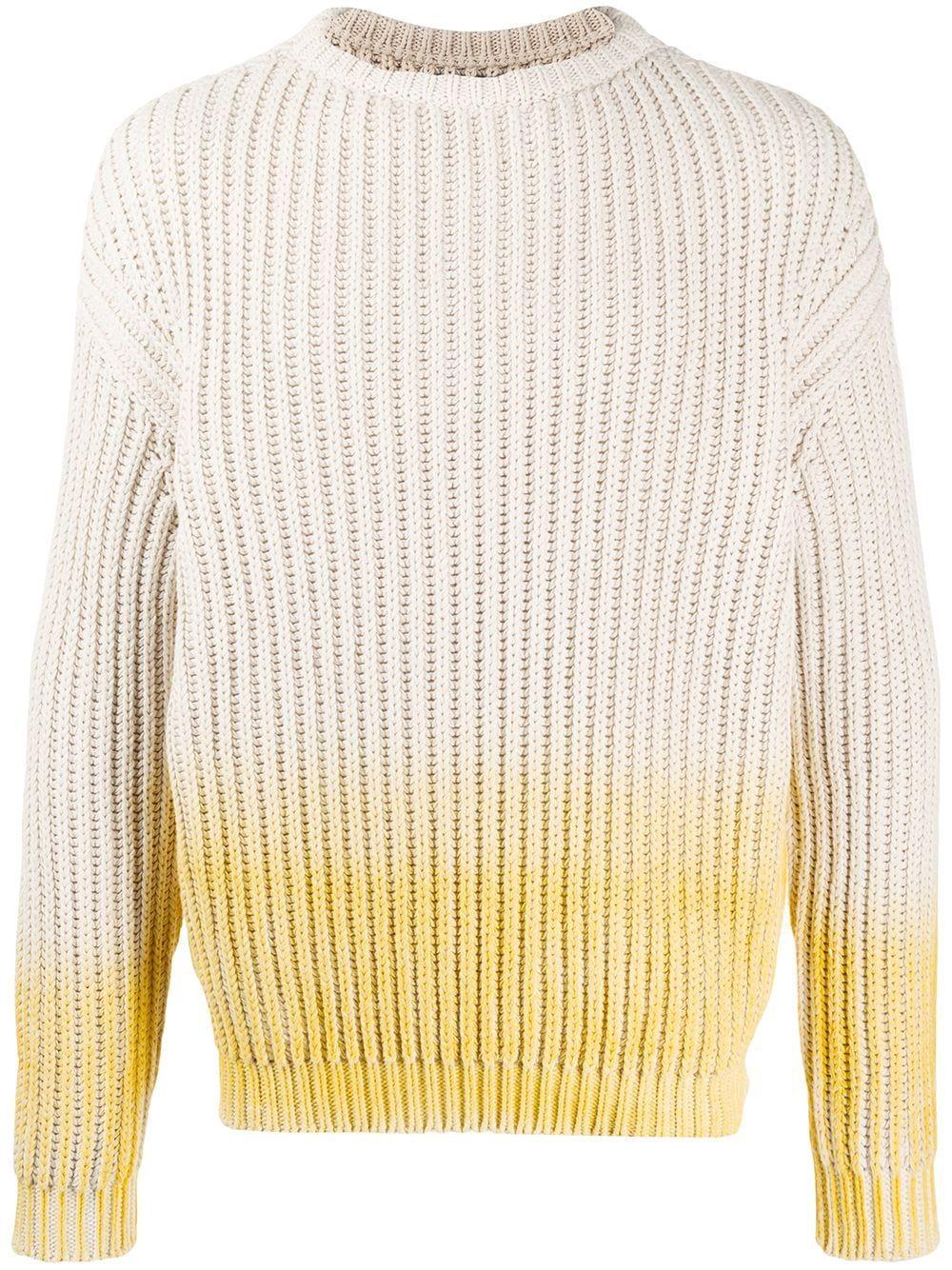 Jacquemus gradient chunky knit jumper - NEUTRALS #chunkyknitjumper