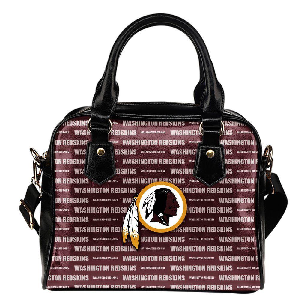 Nice Little Logo Washington Redskins Shoulder Handbags