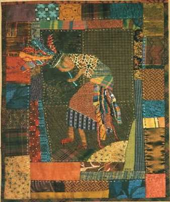 Arizona Quilts Kokopelli quilt. I really like the border of this one