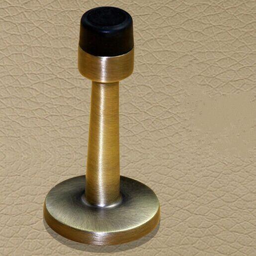 antique brass zinc alloy door stops ,Non-Magnetic balck rubber bronze door  stopper DS05 - Antique Brass Zinc Alloy Door Stops ,Non-Magnetic Balck Rubber