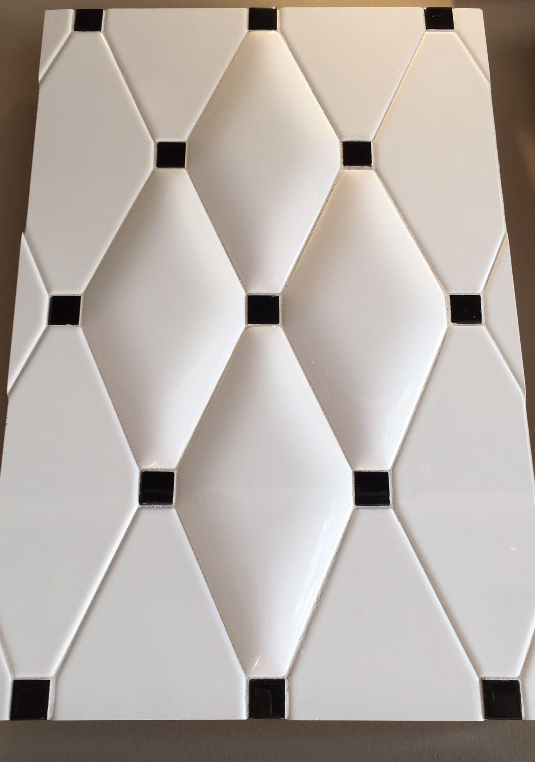 8x4 Pillow Diamond Shape Ceramic Tiles Also 8x4 Flat Diamonds Black Accent Dots Diamond Pillows Ceramic Tiles Diamond Shapes
