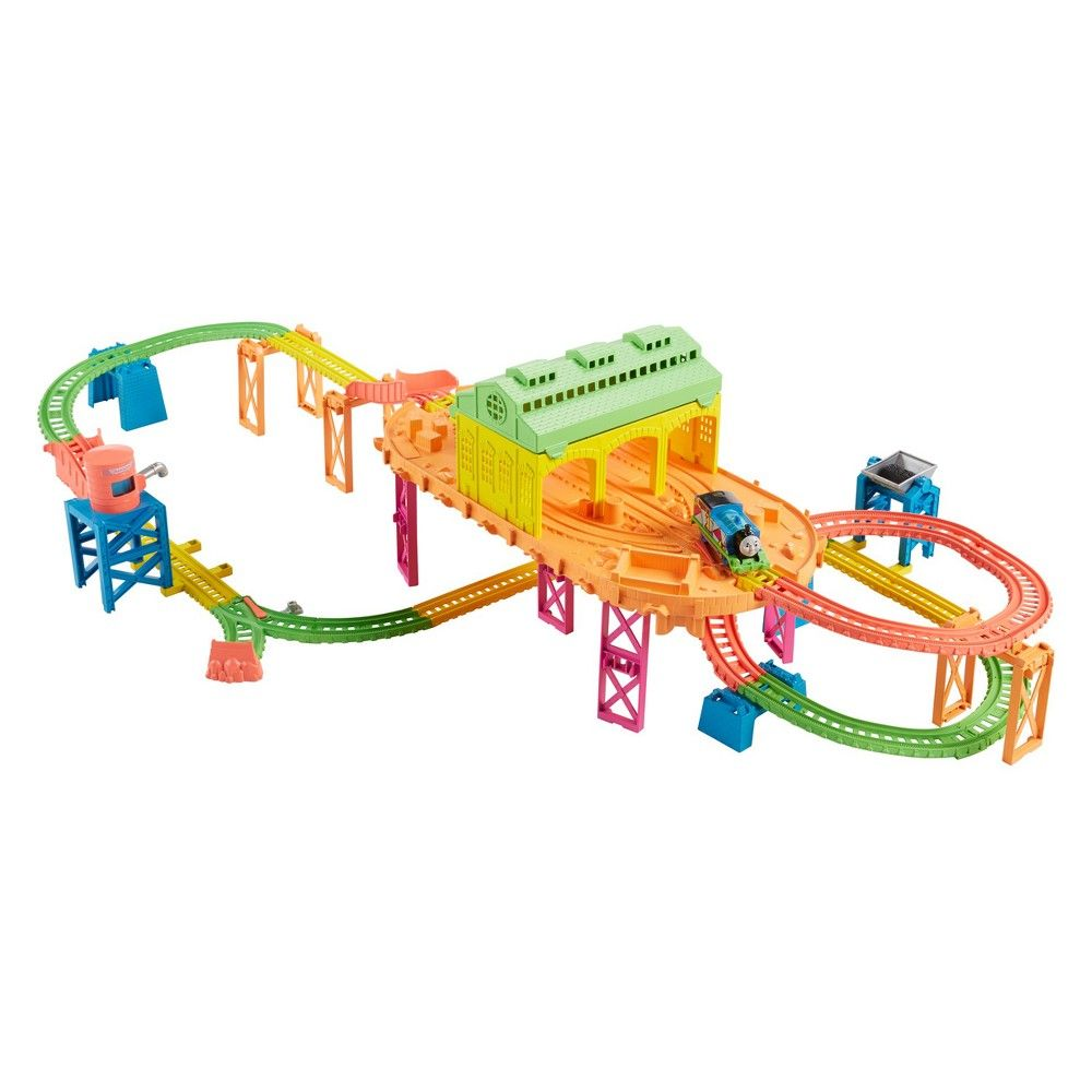 Motorized Hyper Glow Train Set Thomas /& Friends Fisher-Price TrackMaster