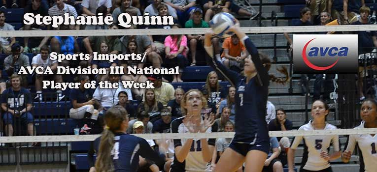 Congratulations To Stephanie Quinn Who Won The National Avca Weekly Honor Berryvikings Com Quinn Stephanie National